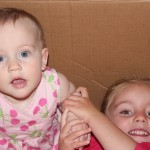 Aliana and Emma in a box!