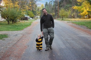 Cutest bee with Daddy