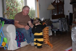 showing Grampa Kendall he strength
